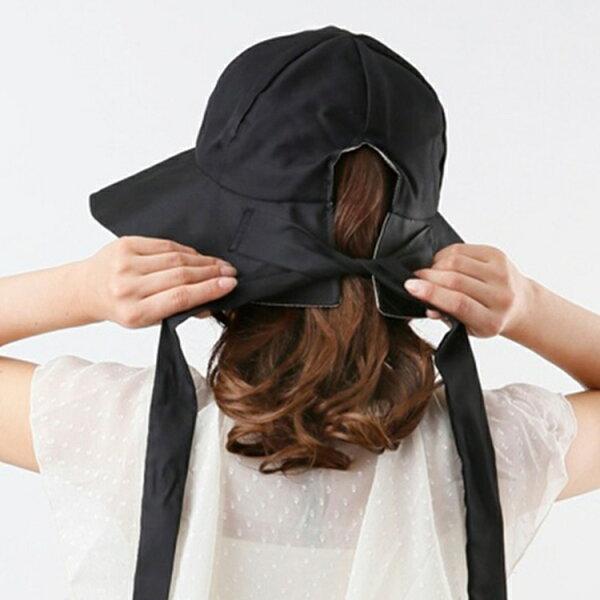 又敗家@日本NEEDS涼感速乾百搭雙面遮陽帽可折疊長12公分大帽簷99%抗UV夏季戶外防曬帽防紫外線太陽帽蝴蝶結帽淑女帽