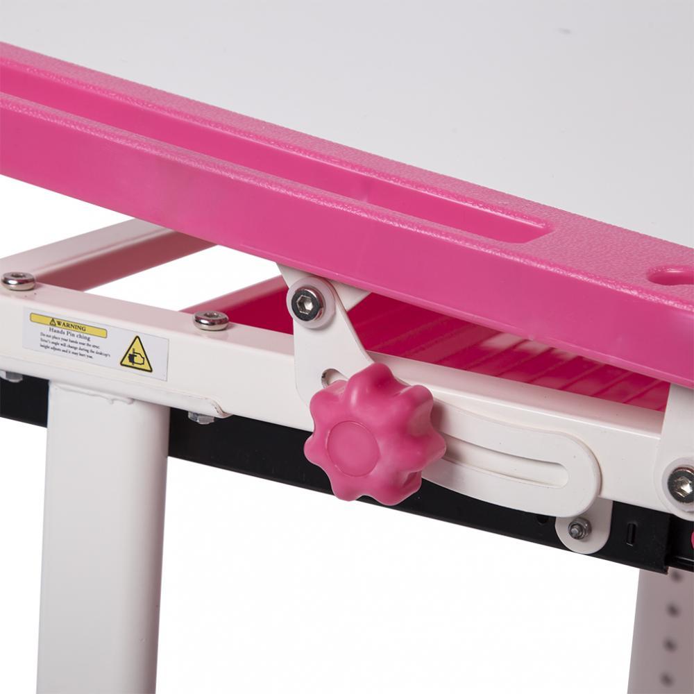 9b58909b1a1 Pink Adjustable Children s Desk Chair Set Child Study Desk Kids Study Table  XLQ 1