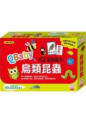 QBaby IQ認知圖卡  鳥類昆蟲 內附40張豐富學習圖卡