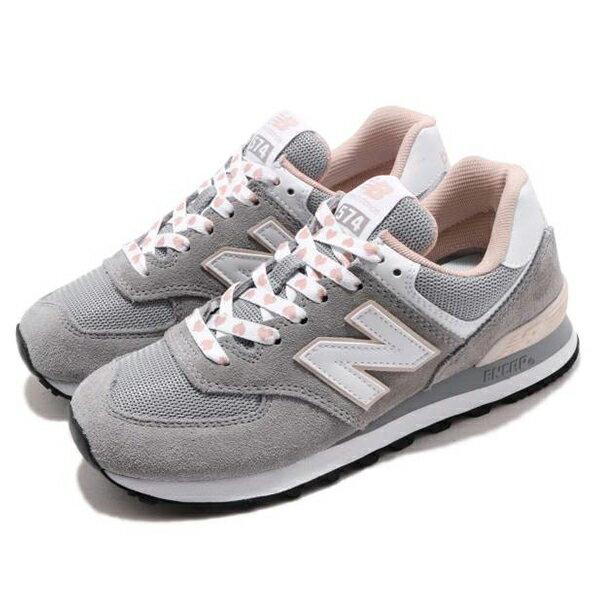 Shoestw【WL574VDG】NEW BALANCE NB574 運動鞋 Wide 愛心 灰粉紅 女生尺寸 1