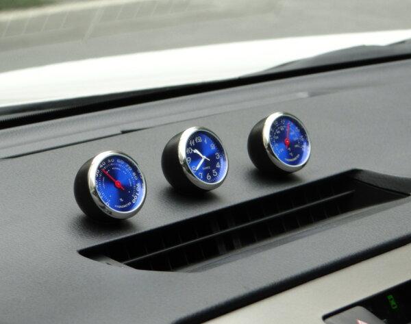 美琪(質感好物)汽車石英時鐘機械溫度濕度表精工鋼芯品質