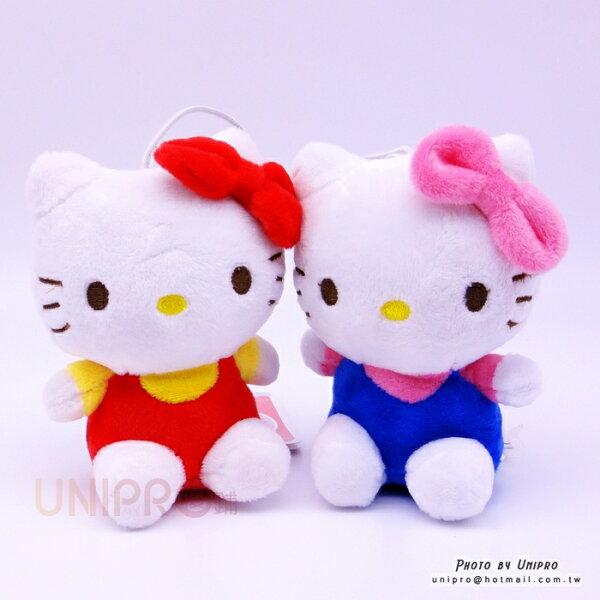 【UNIPRO】HelloKitty凱蒂貓娃娃13公分玩偶吊飾三麗鷗正版授權