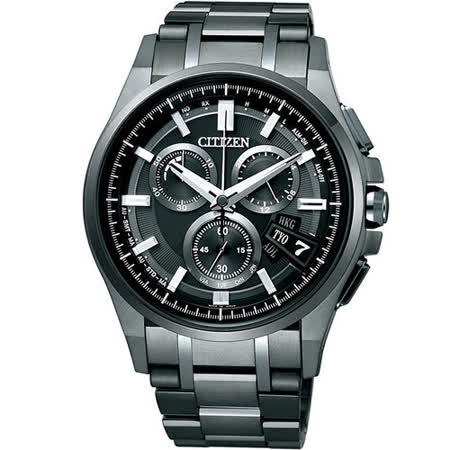 清水鐘錶 Citizen 星辰 Eco-Drive 光動能 浩瀚星空鈦金屬全球電波腕錶 BY0094-87E 44mm