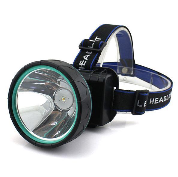 《沛大旗艦店》$199充電式LED強光大頭燈黃光藍光白光三色選擇夜間照明戶外露營場勘活動【S73】