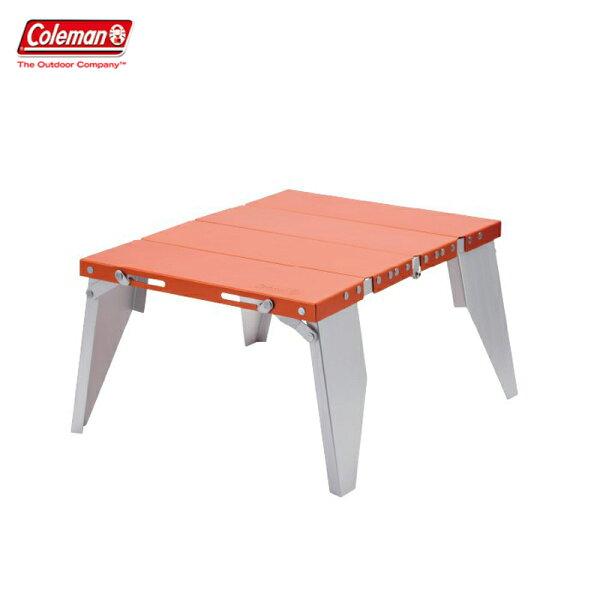 【露營趣】ColemanCM-26763緊湊型鋁桌折疊桌摺疊桌野餐桌露營桌休閒桌茶几小折桌