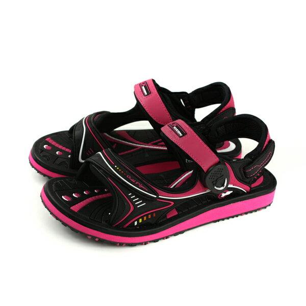 GP(Gold.Pigon)阿亮代言涼鞋防水雨天女鞋黑桃紅G8666BW-15no949