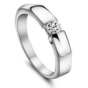 卡凡特價八心八箭瑞士鑽石戒指 簡約0.3克拉鑽戒 女 情侶 男戒指