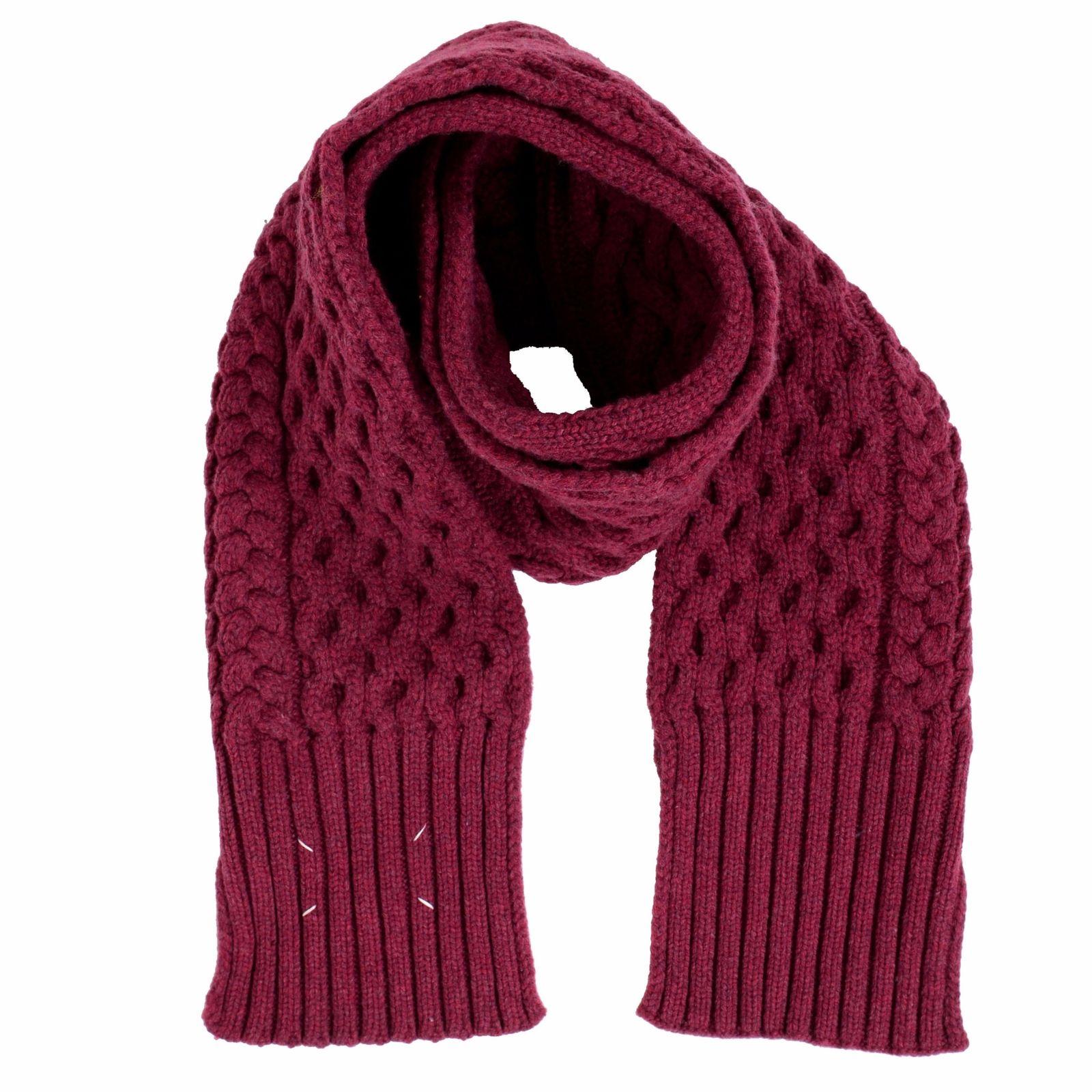ONE MODA  Maison Margiela 1 100% Wool Burgundy Heavy Knitted Women s ... a793f32ee