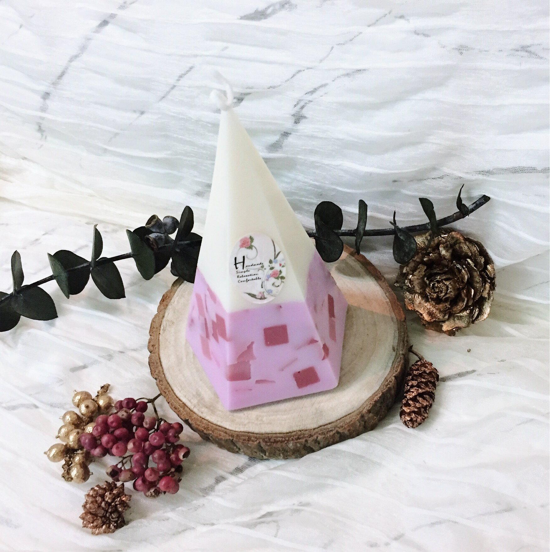 粉彩方塊香氛蠟燭  **天然大豆精油蠟燭** 香氛手工製作 情人節禮物 生日禮物 結婚送禮