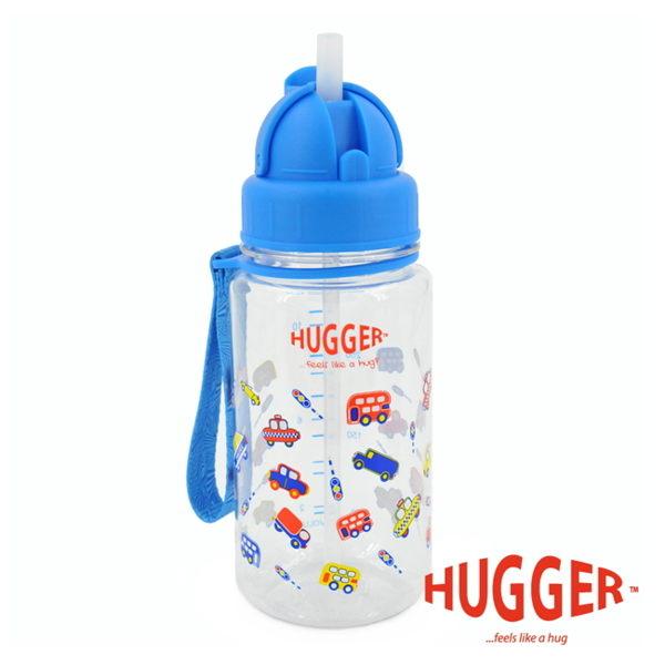 【英國 Hugger】Tritan 彈跳吸管水壺 - 玩具車