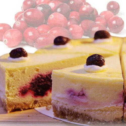 (免運)【阿妮琪烘焙屋】蔓越莓重乳酪蛋糕-6吋(蛋奶素) ?不露餡兒的好滋味? #新鮮蔓越莓熬煮的內餡(非罐頭果醬,無添加色素,香精),減糖更健康#