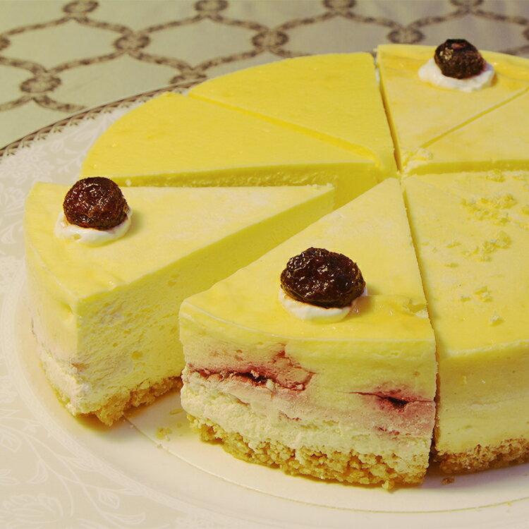 (免運)【阿妮琪烘焙屋】四喜拼盤重乳酪蛋糕-6吋(蛋奶素) ❤不露餡兒的好滋味❤ #新鮮水果熬煮的內餡(非罐頭果醬,無添加色素,香精),減糖更健康# (四種口味一次滿足:藍莓+蔓越莓+蜂蜜檸檬+百香果) 0