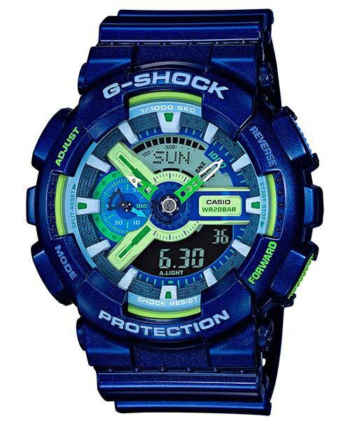 CASIO G~SHOCK GA~110MC~2A炫彩藍雙顯 腕錶  51mm