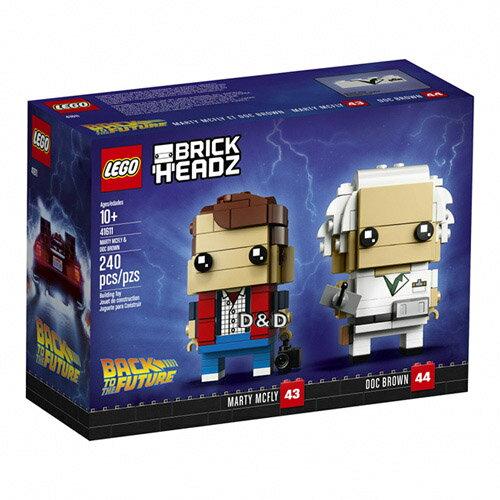 樂高積木LEGO《LT41611》2018年Brickheadz積木人偶系列-MartyMcFly&DocBrown