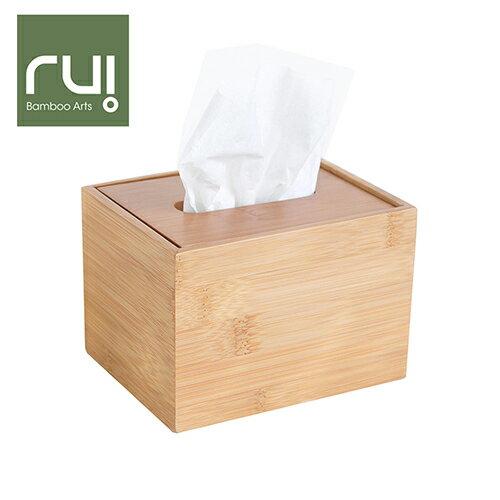 【Rui】台灣竹手工巧抽面紙盒(方型)(收納盒 木工藝 家用品)