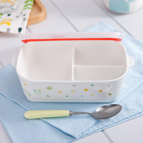 陶瓷便當盒 分格飯盒 保鮮盒 微波爐飯盒 餐盒 水果盒 野餐 露營陶瓷分格 陶瓷分隔 /冰箱冷藏保鮮/微波爐加熱 /貼心分隔款,可防串味與油膩