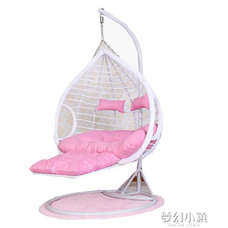 吊椅家用陽臺吊籃藤椅室內秋千搖椅戶外吊床搖籃椅歐式鳥巢掉椅子  凡客名品