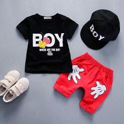短袖套裝 米奇 卡通造型上衣 +短褲 寶寶童裝 CK11753 好娃娃