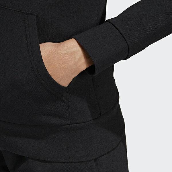 ◆APP領券再九折◆【ADIDAS】愛迪達W E LIN FZ HD 女裝 連帽 黑 外套 -DP2401 3