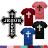 ◆快速出貨◆T恤.情侶裝.班服.MIT台灣製.獨家配對情侶裝.客製化.純棉短T.單色十字架 JESUS【YC438】可單買.艾咪E舖 0