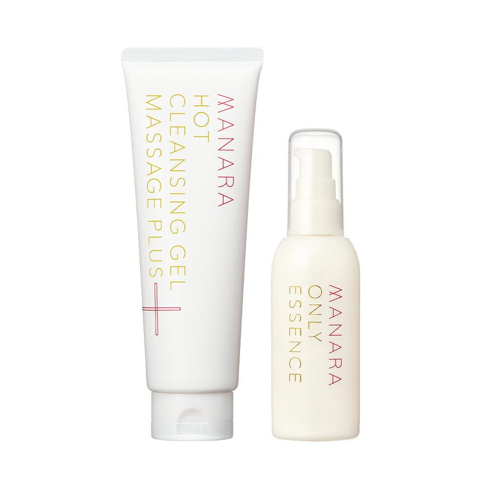 [2021新登場]  打造穩定膚質 MANARA 溫熱卸妝凝膠 按摩PLUS+全效活膚保濕精華露