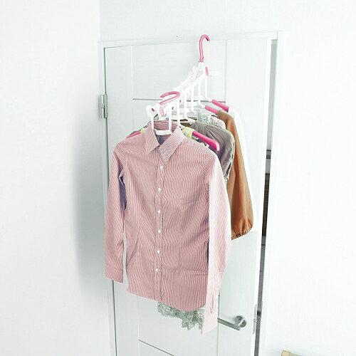【促銷】日本AISEN室內機能6連粉紅曬衣架