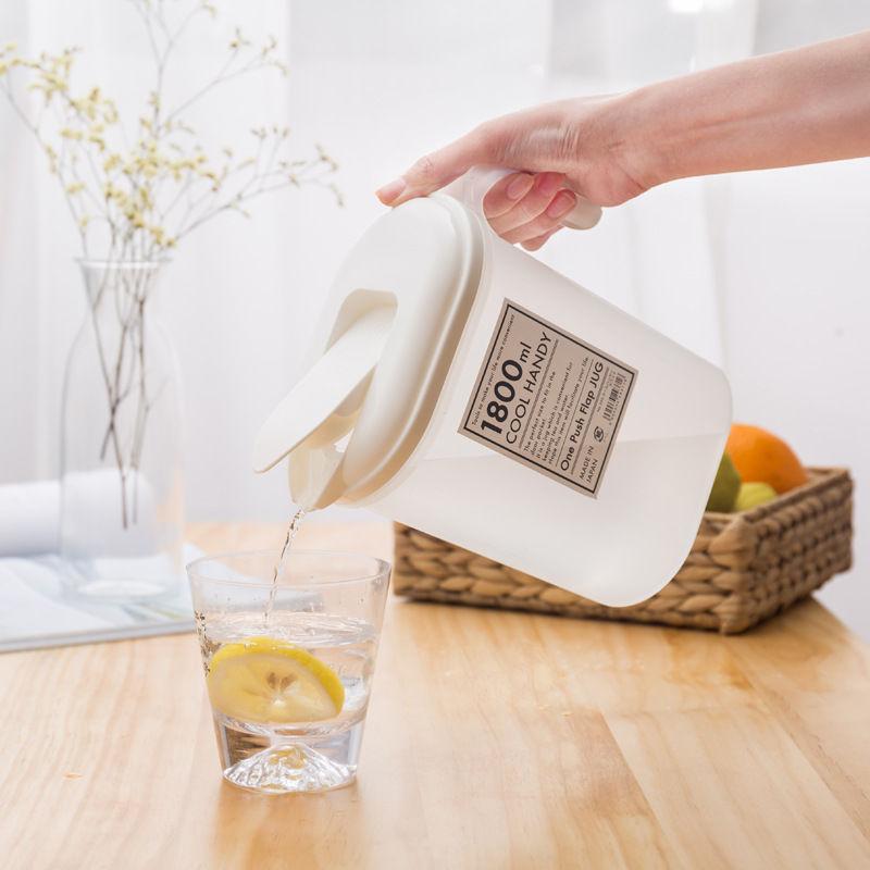 日本進口大容量冷水壺涼水壺塑料冰箱飲料果汁壺家用耐高溫冰水壺