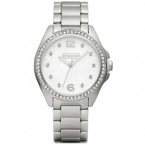【發燒熱賣】COACH時尚繽粉晶鑽女腕錶32mm白貝14501656