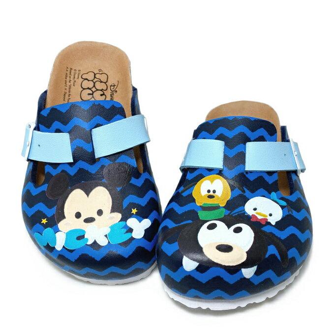 【滿額領券↘折$120】*迪士尼DISNEYTsumTsum 童款氣墊包趾拖鞋 [418809] 藍 MIT台灣製造【巷子屋】