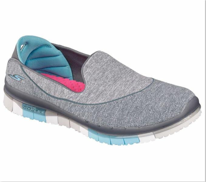 [陽光樂活] SKECHERS (女) 健走系列 GO FLEX 走路鞋 休閒鞋 健走鞋 - 14010CCBL 天藍