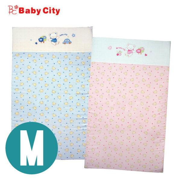 Baby City 寶貝熊乳膠床墊M(118*58cm) 藍/粉