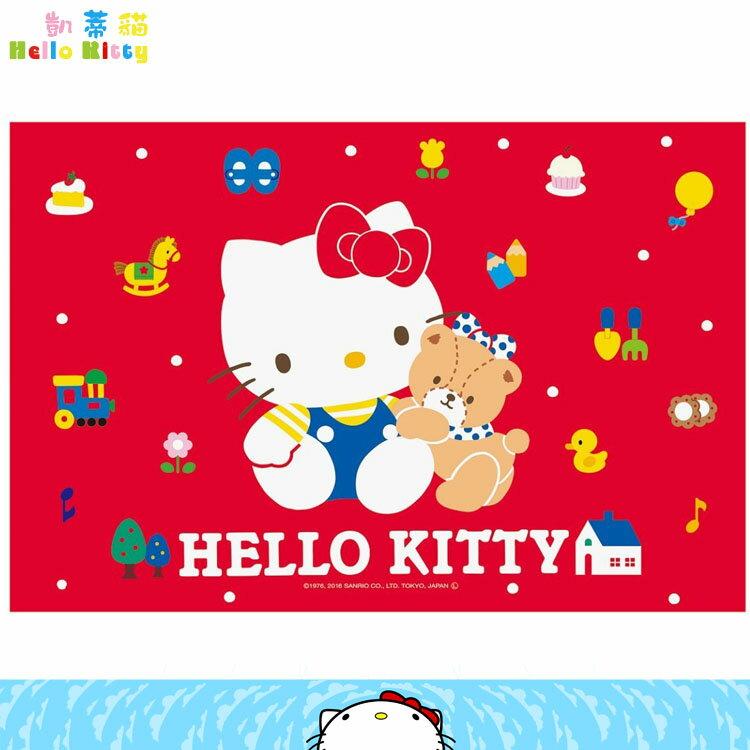 大田倉 日本進口正版 三麗鷗凱蒂貓Hello Kitty 遠足野餐墊 郊遊墊海灘墊烤肉墊郊遊坐墊 單人用 359750