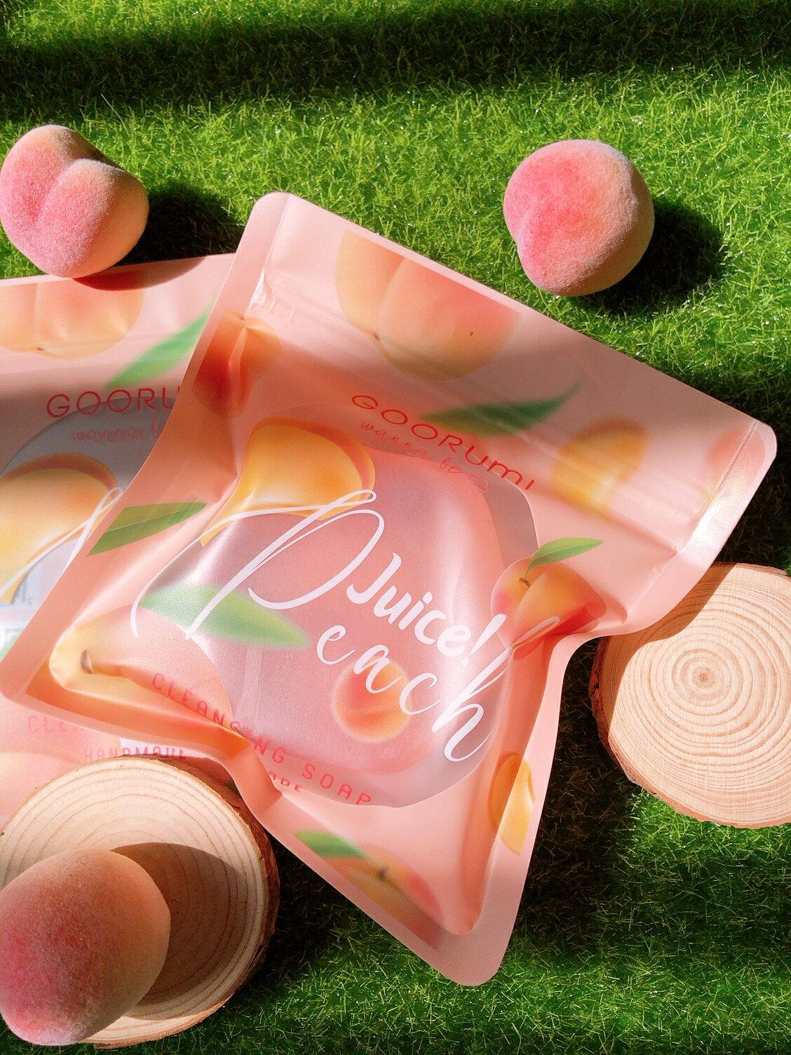 〔讓我皂顧你〕蜜桃輕顏皂+天然潔膚蒟蒻球-2入組 臉部保養 / 美容皂 / 手工洗臉皂 / 保濕 / 敏感肌可用 / 去角質 / 毛孔清潔 / 代謝老廢角質 / 環保材質 2