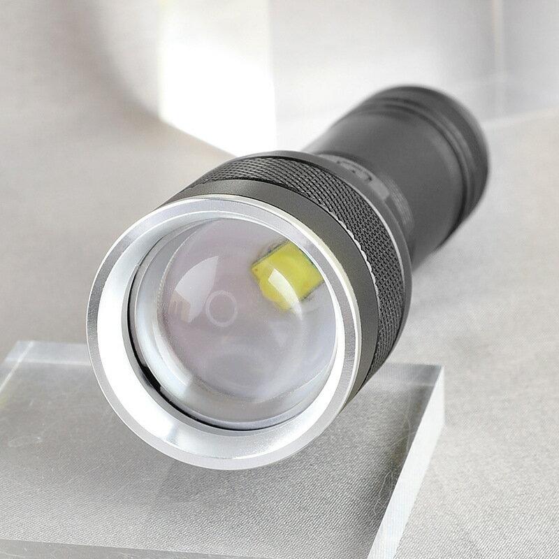 跨境新款P50強光手電筒 26650戶外照明手電筒 USB充電伸縮手電筒 全館八八折