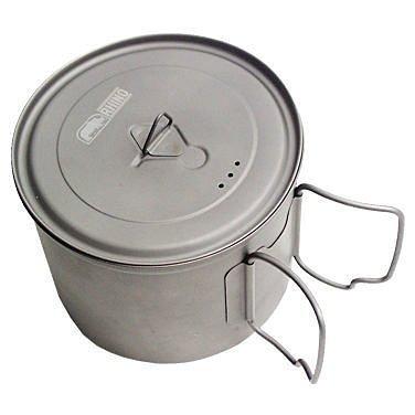 【H.Y SPORT】犀牛RHINO KT-11 犀牛鈦合金超輕湯壺/登山露營鍋具/烤肉/超輕調理鍋/炊具料理(紅標)
