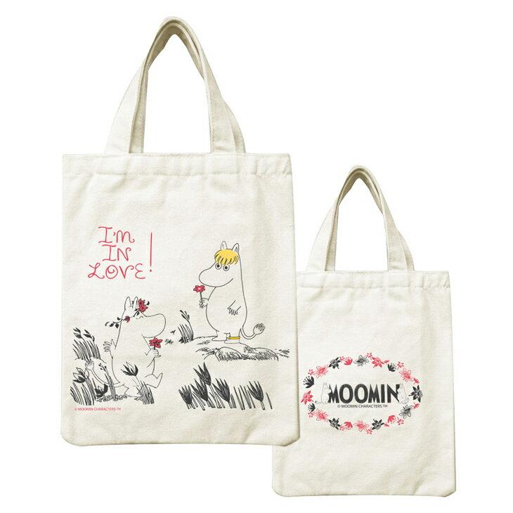 Moomin嚕嚕米正版授權 - 帆布包:【 獻上我的愛 】