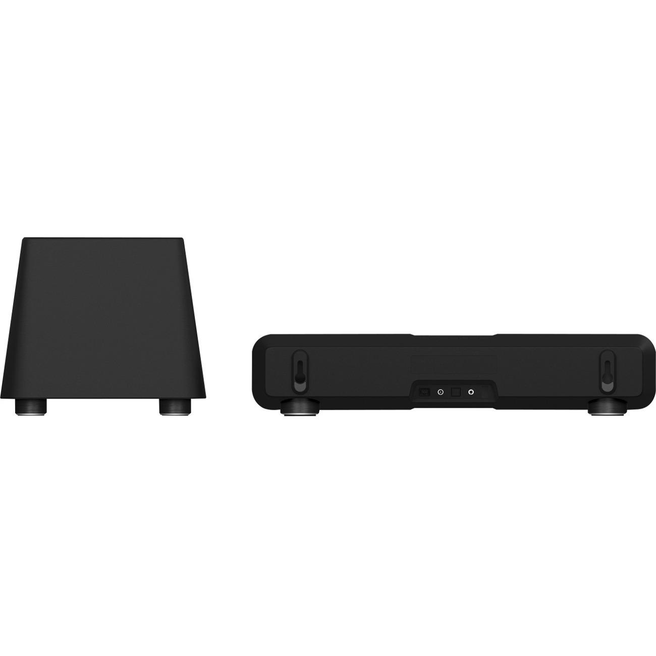 Razer Leviathan 5.1 Speaker System - 60 W RMS - Wireless Speaker(s) - Black - 20 Hz - 20 kHz - 32.8 ft - Dolby Digital, Dolby Virtual Speaker, Dolby Pro Logic II - Bluetooth 2