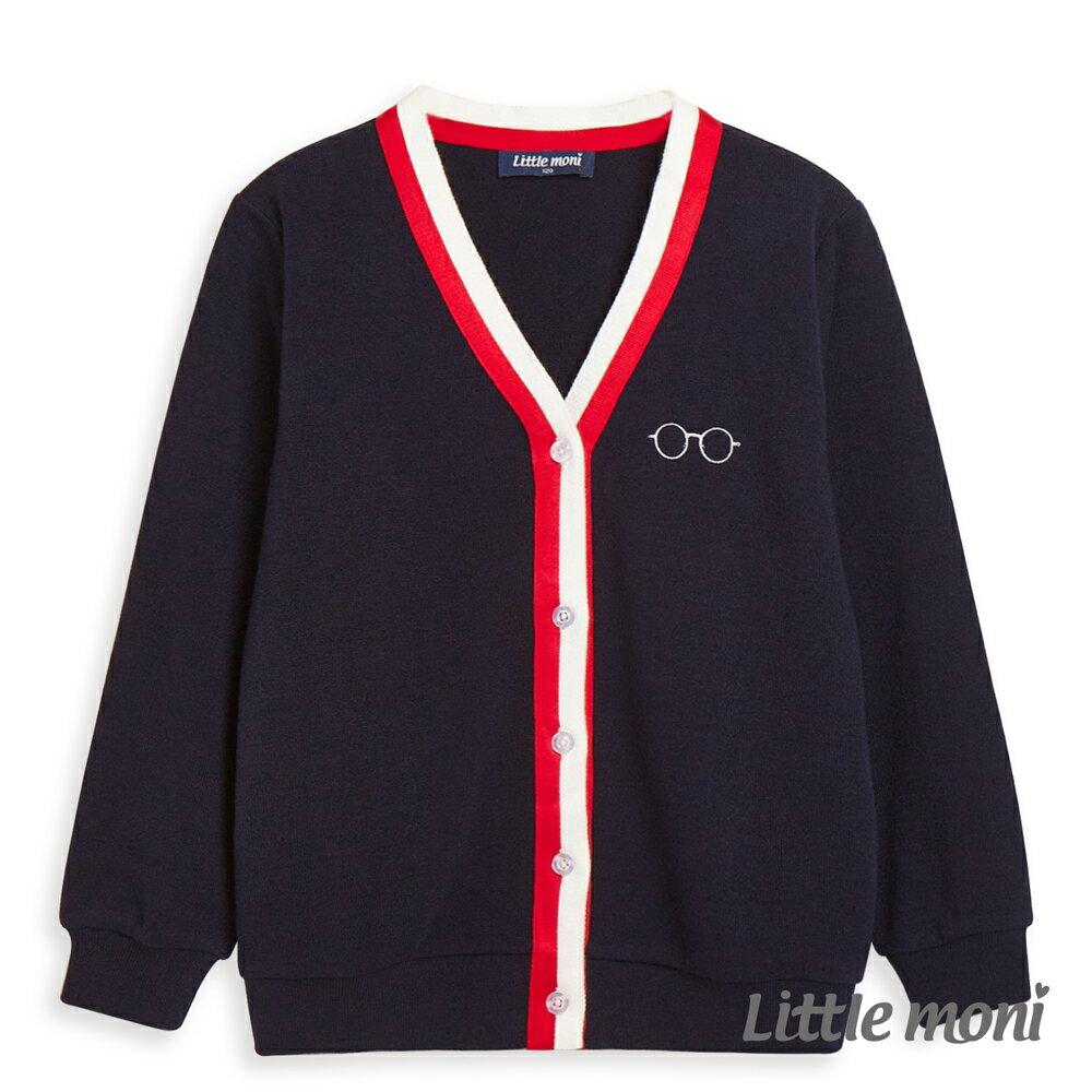 Little moni 學院風針織外套-深藍(好窩生活節) 1
