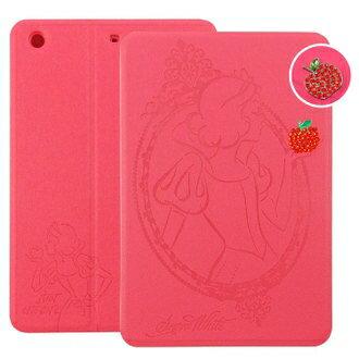 【Disney 】iPad mini2/mini3 Retina公主系列Snow White白雪公主時尚手繪風水鑽壓紋皮套