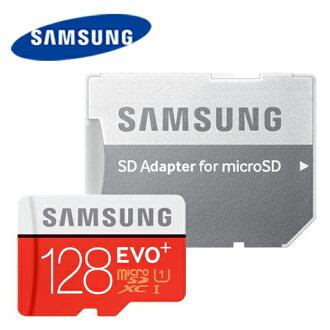 Samsung 128G EVO Plus / EVO+ 80MB/s microSDHC 128GB 高速記憶卡 class10 (含轉卡)