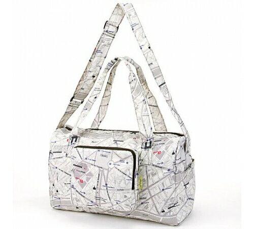 【預購】摺疊收納旅行袋- 白色簡約 - 限時優惠好康折扣