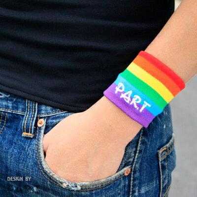 (PAR.T)彩虹商品-個性護腕