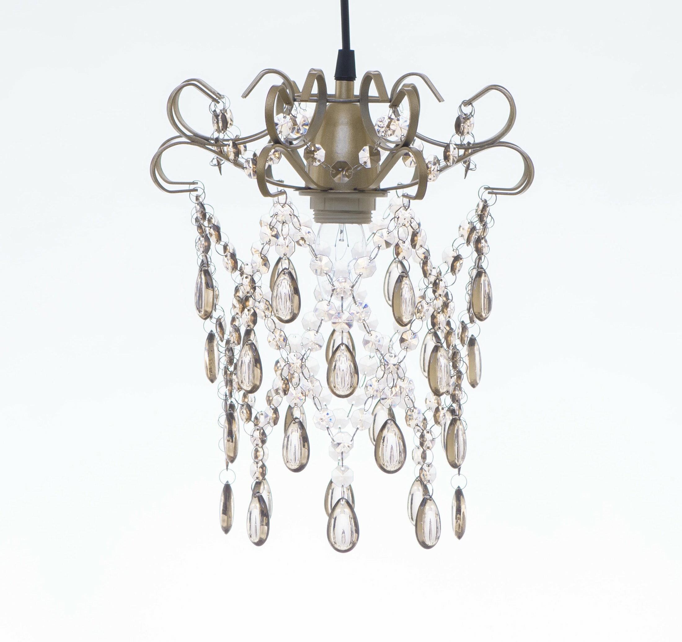 玫瑰金扁鐵框壓克力珠吊燈-BNL00049 0