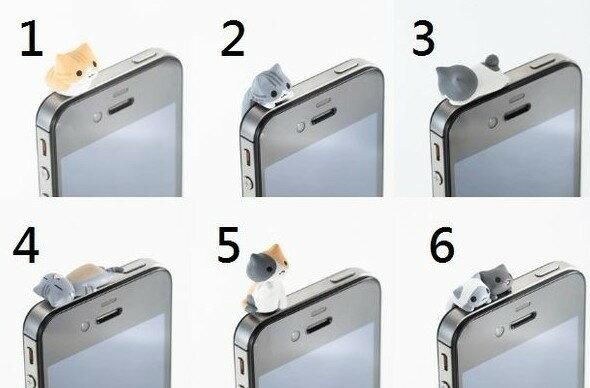 正品 niconico療傷系 6款趴趴貓防塵塞 耳機塞 保護塞 Iphone4 4s 3.