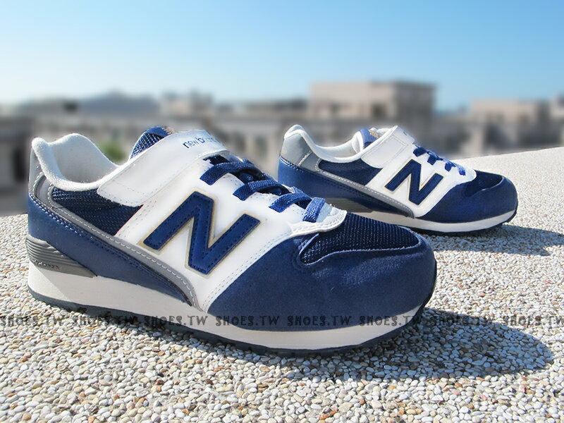 [19cm]《超值6折》Shoestw【KV996NVY】NEW BALANCE 574 復古慢跑鞋 童鞋 運動鞋 中童 海軍藍 金標