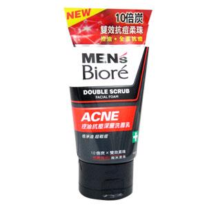 花王 蜜妮MEN's Biore 男性專用 控油抗痘深層 洗面乳 100g