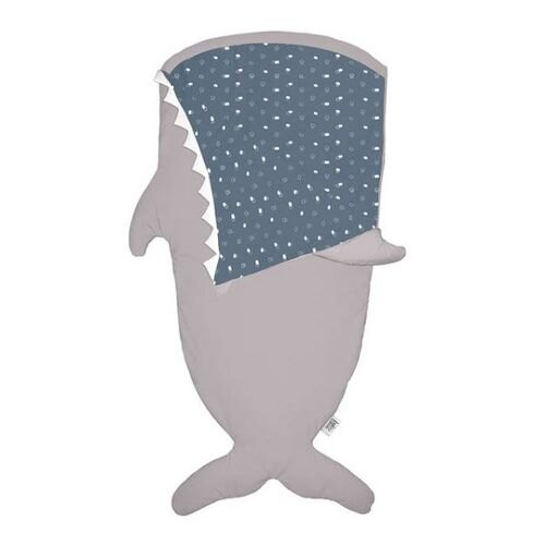 BabyBites 西班牙鯊魚咬一口 兒童睡袋(標準版)-卡其灰(藍底)★衛立兒生活館★ 1