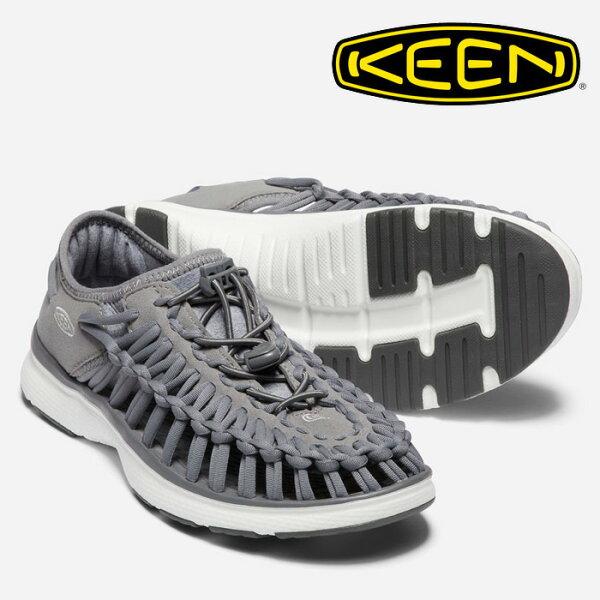 【Keen美國】UNEEKO2編織涼鞋運動涼鞋休閒涼鞋女款淺灰深灰/1018733