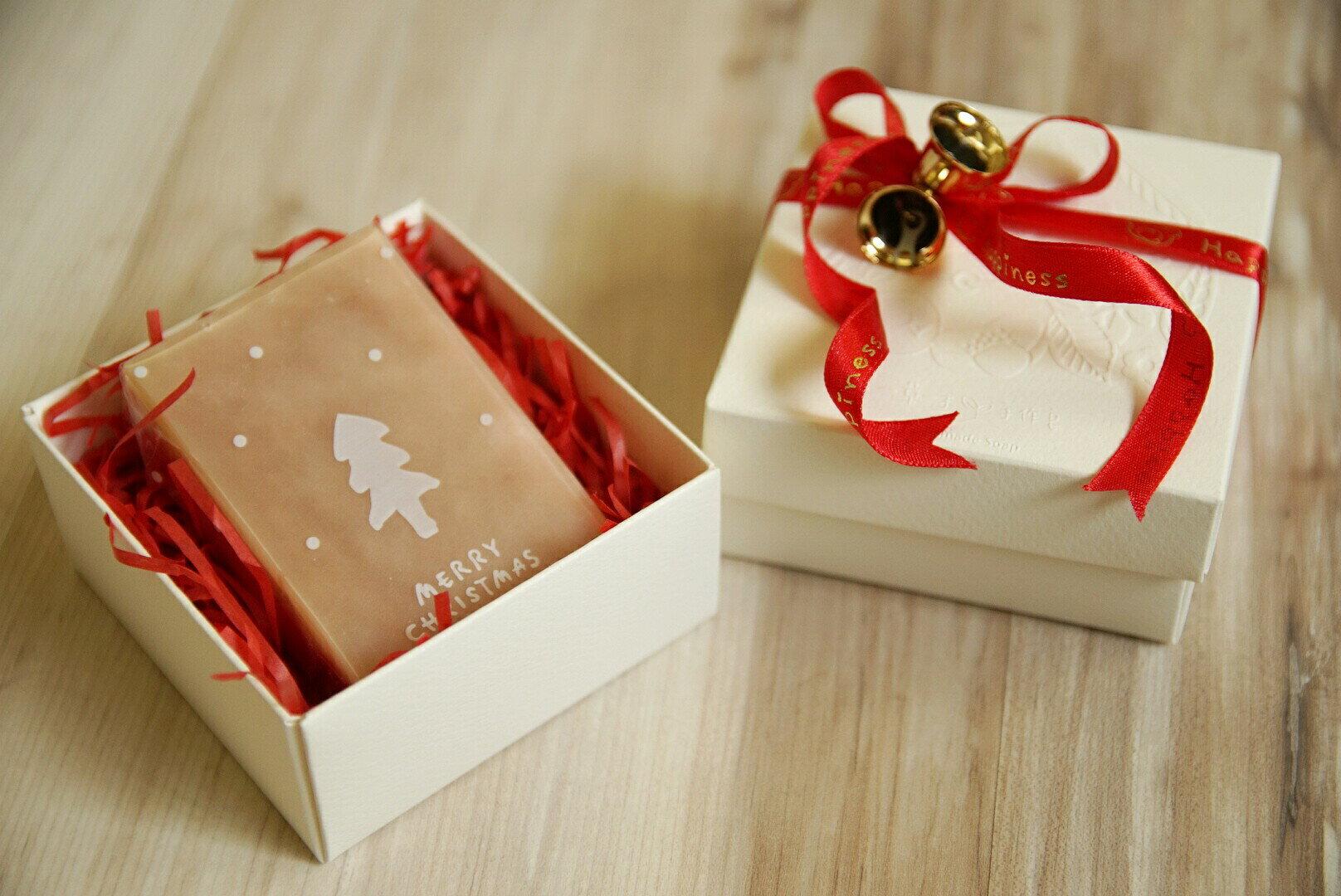 【一草一木】~ 聖誕節 手工皂禮盒(單塊裝)~天然.無毒.環保 (聖誕節交換禮物首選)