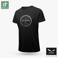 【義大利 SALEWA】27020 BASE CAMP 男 快乾短袖T恤  (多色可選)-黑雨名店-運動休閒推薦